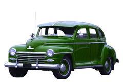 Groene klassieke auto Stock Afbeelding