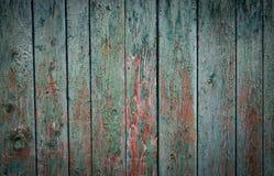 Groene kleuren oude houten Stock Afbeelding