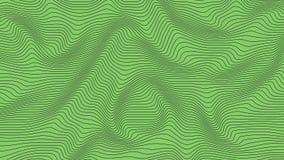 Groene kleurrijke curvy geometrische het patroontextuur van de lijnengolf op kleurrijke achtergrond stock illustratie