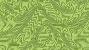 Groene kleurrijke curvy geometrische het patroontextuur van de lijnengolf op kleurrijke achtergrond vector illustratie