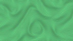 Groene kleurrijke curvy geometrische het patroontextuur van de lijnengolf op kleurrijke achtergrond royalty-vrije illustratie