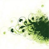 Groene klimopachtergrond Royalty-vrije Illustratie