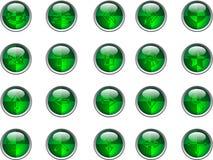 Groene knopen vector illustratie