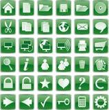 Groene knopen Stock Afbeelding