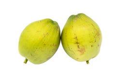 Groene kokosnoten stock foto's