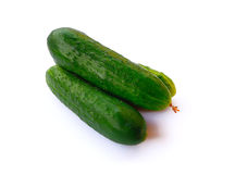Groene komkommer op wit Royalty-vrije Stock Foto