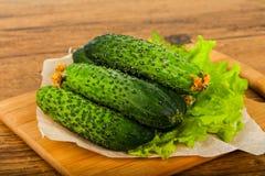 Groene komkommers Stock Foto