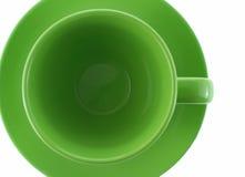 Groene kop een mening met bovenkant Stock Foto