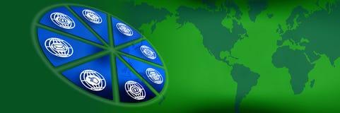 Groene kopbalgrafiek Royalty-vrije Stock Afbeelding