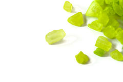 Groene kristallen royalty-vrije stock afbeelding