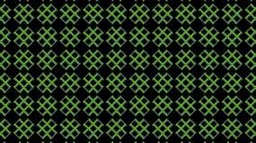 Groene kruisen op een zwarte achtergrond Geometrisch textiel naadloos patroon stock illustratie