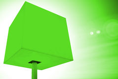 Groene kubus stock afbeeldingen