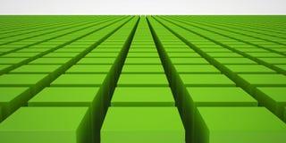 Groene Kubussen Stock Foto's