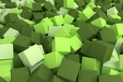 Groene kubussen Royalty-vrije Stock Afbeeldingen