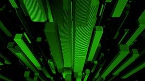 Groene kubussen van een lus voorziende abstracte achtergrond stock footage