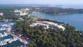 Groene Laguna Stad van Porec Kroatië stock footage