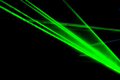 Groene lasers royalty-vrije stock fotografie