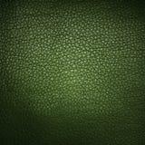 Groene leerachtergrond of textuur Stock Afbeelding