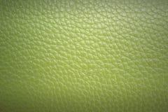 Groene leertextuur en achtergrond Royalty-vrije Stock Afbeeldingen
