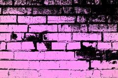 Groene lege abstracte textuur van gebarsten verf op de bakstenen muur die als textuur of achtergrond kan worden gebruikt stock illustratie
