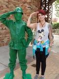 Groene legermens van stuk speelgoed verhaal Stock Afbeeldingen
