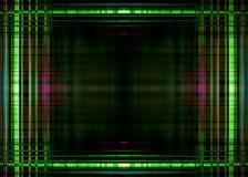 Groene lichtengrens op zwarte Royalty-vrije Stock Fotografie
