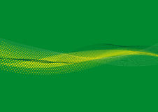 Groene Lijnen & punten bground royalty-vrije illustratie