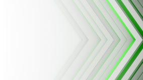 Groene lijnen en het vrije ruimte 3D teruggeven vector illustratie