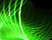 Groene lijnen op zwarte illustratie stock illustratie