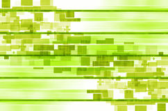 Groene lijnen vierkante abstracte achtergrond Stock Foto's