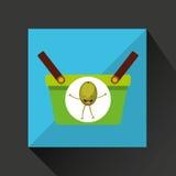 Groene mandmarkt en olijf vector illustratie