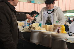 Groene markt in Alma Ata stock afbeeldingen