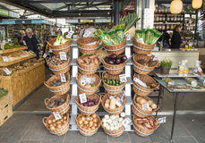 Groene markt in Amsterdam Stock Fotografie