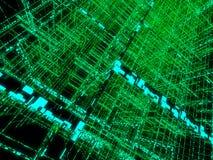 Groene matrijs vector illustratie