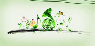 Groene Melodie Royalty-vrije Stock Foto
