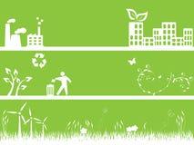 Groene milieu en stad Stock Afbeeldingen