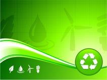 Groene milieuachtergrond stock illustratie