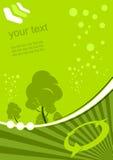 Groene milieuachtergrond Stock Fotografie