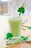 Groene Milkshake stock afbeelding