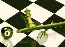 Groene Minister Chess stock afbeelding