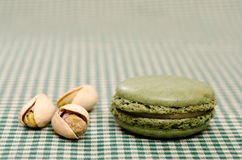 Groene mit pistaches Macaron Royalty-vrije Stock Foto's