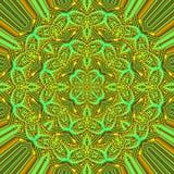 Groene moderne mandalaillustratie royalty-vrije stock afbeelding