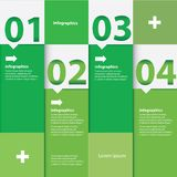 Groene Moderne vlakke ontwerpinfographics Stock Afbeelding
