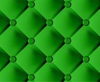 Groene modieuze stof met knoppen Stock Afbeeldingen