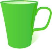Groene mok, vectorillustratie Royalty-vrije Stock Afbeelding