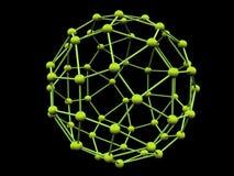 Groene molecule Royalty-vrije Illustratie
