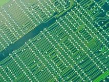 Groene motherboard een andere mening stock foto