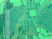 Groene motherboard kring stock foto's
