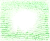 Groene mozaïekkiezelstenen zoals vectorachtergrond met een lege ruimte bij het midden van beeld Geometrische lay-out voor druk Stock Afbeeldingen
