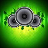 Groene muziekachtergrond Royalty-vrije Stock Afbeelding